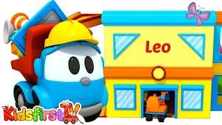Leo the truck builds new house. Kids cartoon.