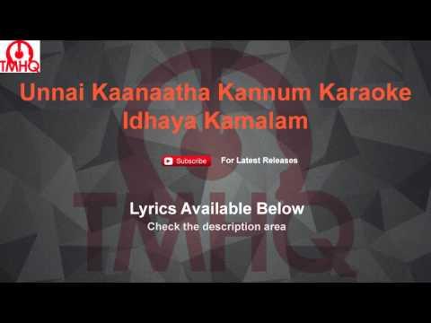 Unnai Kanatha Kannum Kannala Karaoke Idhayakamalam Karaoke