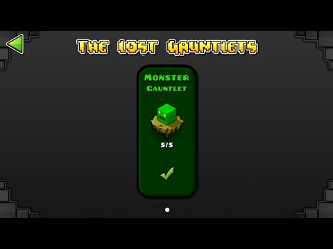 MONSTER GAUNTLET (ALL CLEAR) Geometry Dash 2.11 : The Lost Gauntlet Series #14 / ♬ Partition