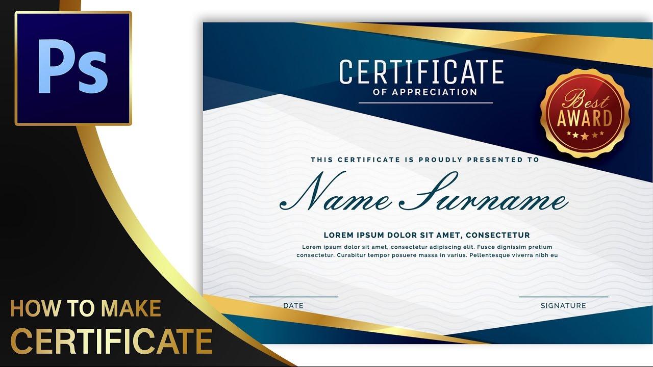 Tutorial Membuat Sertifikat Certificate Part 1 Adobe Photoshop