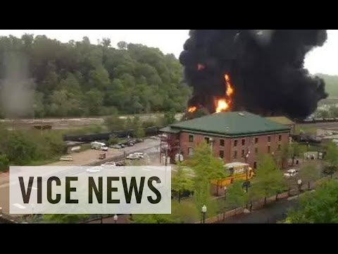 Derailed Oil Tanker Cars Catch Fire in Virginia: This Just In