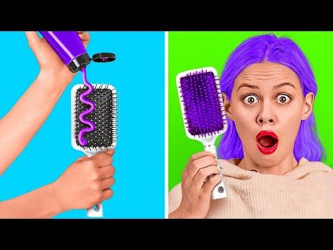 TRUCOS GENIALES PARA EL CABELLO PARA AHORRAR TIEMPO || Increíbles ideas y consejos de peinados