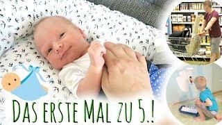 Unser erster Vlog mit Baby | Endlich zu 5.! | Kinderzimmer-Arbeiten beginnen | Familienvlog #119