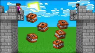 БИТВА ЗАМКОВ с ДРУГОМ! Гоша vs Пиксель в МАЙНКРАФТ 100% троллинг ловушка minecraft