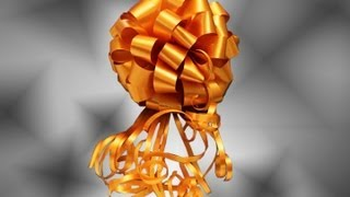 Repeat youtube video Lazo tipo  Pom Pom Puffy.  How to: Gift Bows