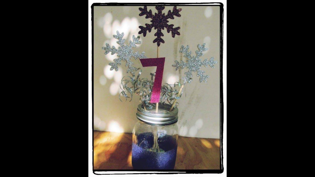 Centro de mesa para fiesta de frozen youtube for Centros de mesa de frozen