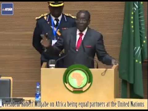 President Robert Mugabe on Africa being equal partners at the United Nations