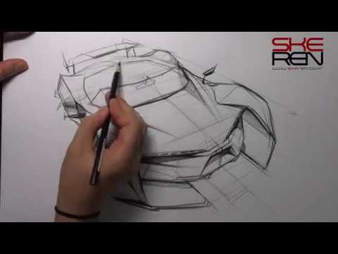 Car Sketch & Design - bird eye View