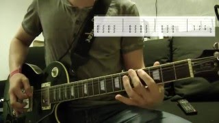 Three Days Grace - I am machine Guitar Cover w/Tabs on screen