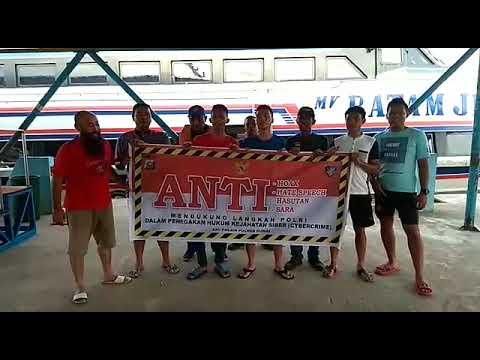 Deklarasi Anti Hoax oleh Crew MV Batam Jet Kota Dumai