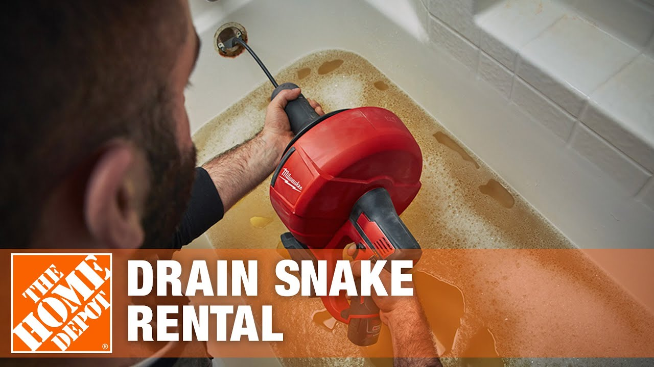 Drain Snake Rental The Home Depot