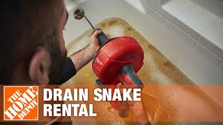 The Home Depot Tool Rental Center- Power Drain Cleaners