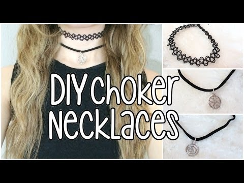 DIY | Tattoo/ Charm Choker Necklaces
