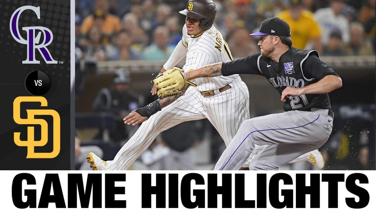 Download Rockies vs. Padres Game Highlights (7/29/21) | MLB Highlights
