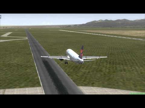 DELTA Airbus A320 landing at Area 51