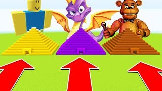 Minecraft : Do Not Choose THE WRONG PYRAMID (Roblox,Spyro,FreddyFazebear)( PS4/XboxOne/PE/MCPE)