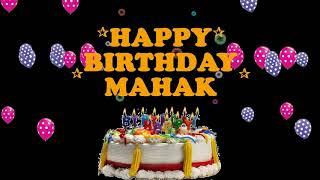 MAHAK HAPPY BIRTHDAY TO YOU