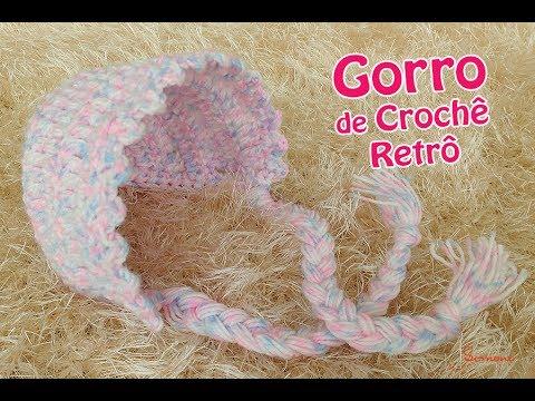 Gorro Newborn de Crochê - Retrô - Professora Simone - YouTube f6f84e1e530