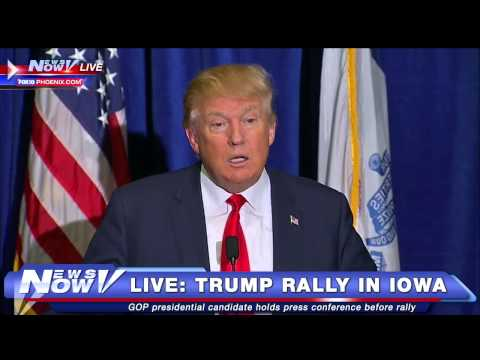 FNN: FULL Donald Trump Press Conference Before Dubuque, Iowa Rally