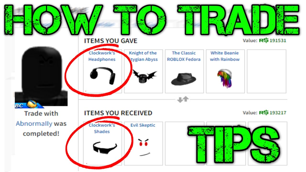 How To Trade On Roblox Tips And Tricks - roblox trade terms