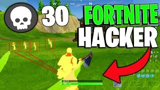 Fortnite HACKER makes 30 KILLS in one round!