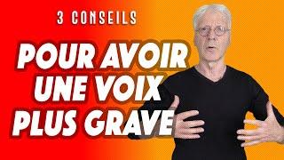 COMMENT AVOIR UNE VOIX PLUS GRAVE. 3 CONSEILS POUR PARLER EN PUBLIC