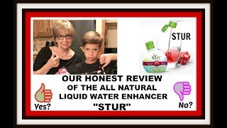 "Our Honest Review On The ""STUR"" Natural Water Enhancer Drops. Make drinking water fun!"