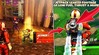 *NEW* JETPACKS REQUIRE FUEL in Fortnite: Battle Royale (Jet Pack Gameplay LEAKED Footage InGame)