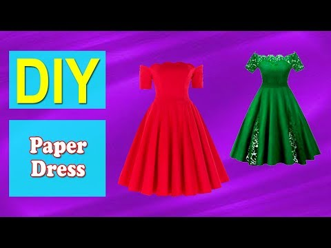 How to Make Paper Dress   Easy DIY Paper Dress   Why Crafts