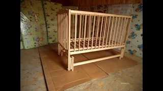 Обзор Детской кроватки Веселка тм Дубок на шарнирах