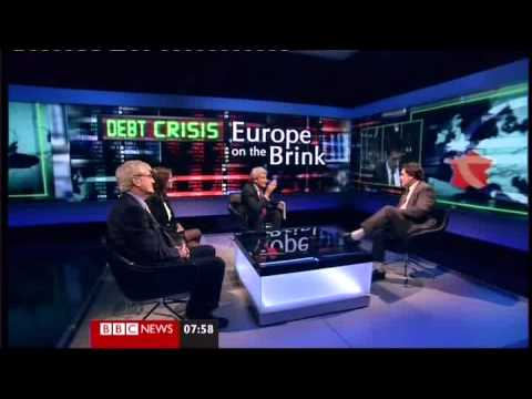 BBC Jeremy Paxman loses control of Peter Oborne who insults a Euro Official