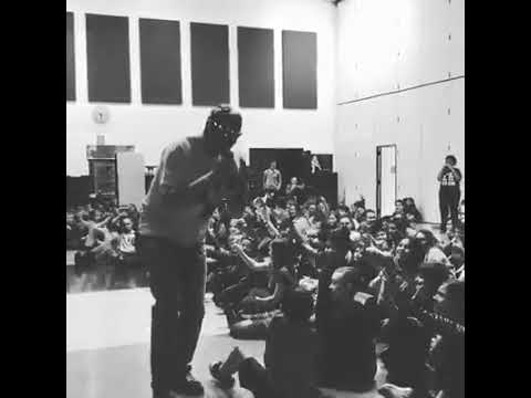 Mr. Peace Raps At Whitmore Lake Elementary School in Whitmore Lake, Michigan