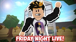 FRIDAY NIGHT ROBLOX LIVE STREAM! (Bloxburg/Meep City)
