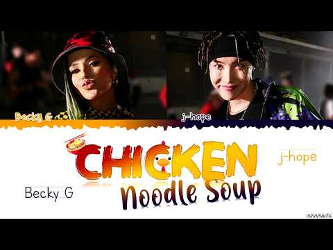 j-hope 'Chicken Noodle Soup (feat. Becky G) 🐔🍜 Lyrics [Color Coded Han_Rom_Esp_Eng] (가사해석)