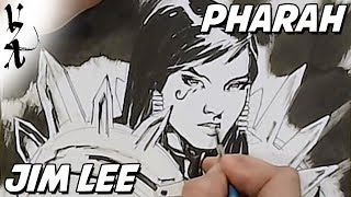 Jim Lee drawing Pharah from Overwatch