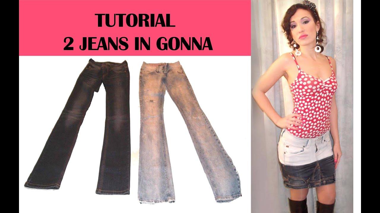 Come Trasformare Dei Vecchi Jeans In Una Gonna Originale Tutorial By Diana Toto