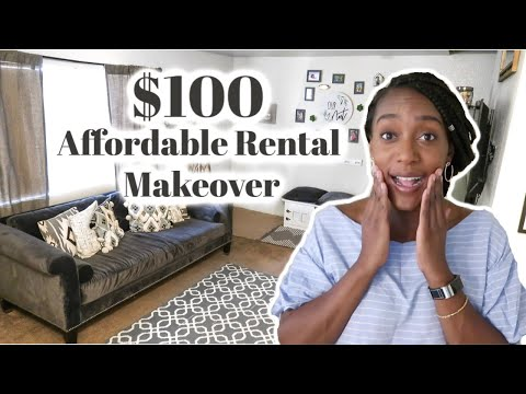 Super Affordable Rental Living Room Makeover / Decorating On A Budget