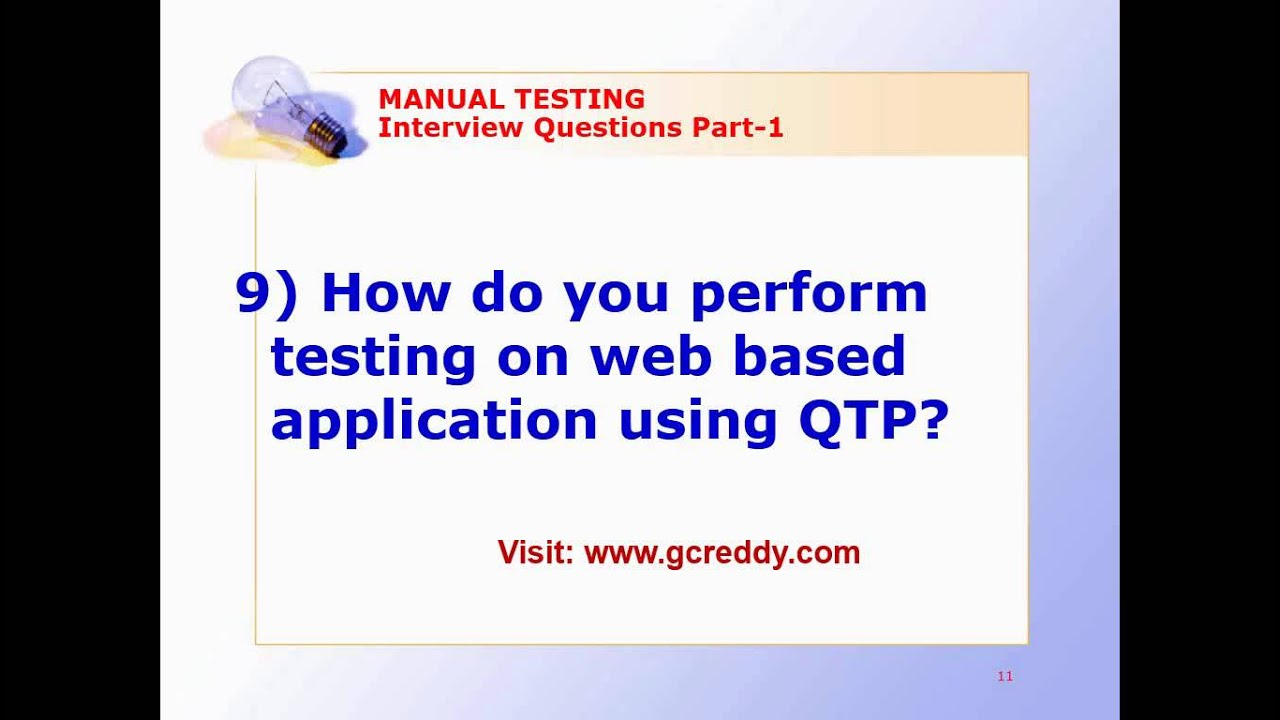 Web Testing Interview Questions