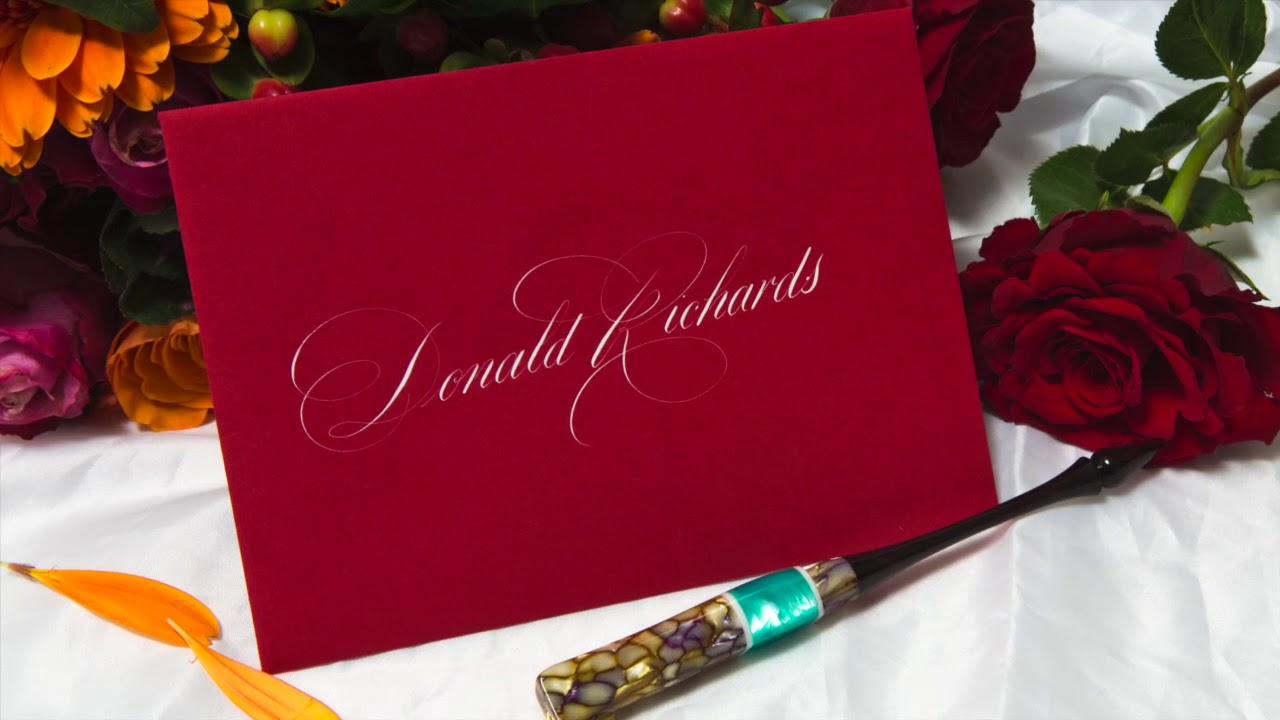 Wedding Calligraphy - YouTube
