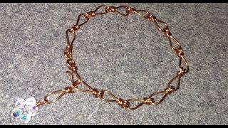 Simple chains copper wire bracelet - handmade jewelry idea 80