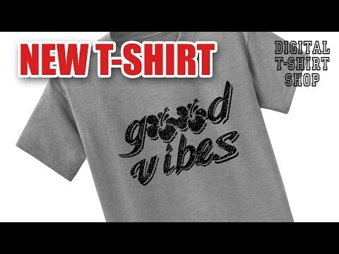 Digital T-Shirt Shop - good vibes hibiscus flower t-shirt