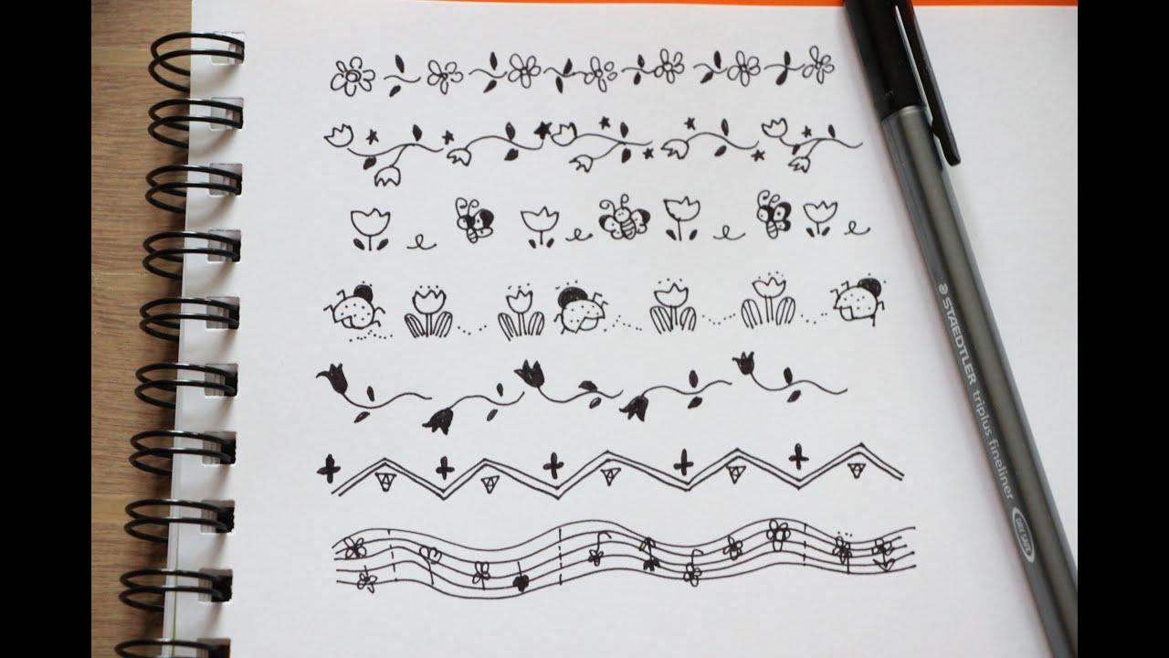 Hand Drawn: Cute Borders + Frames - YouTube