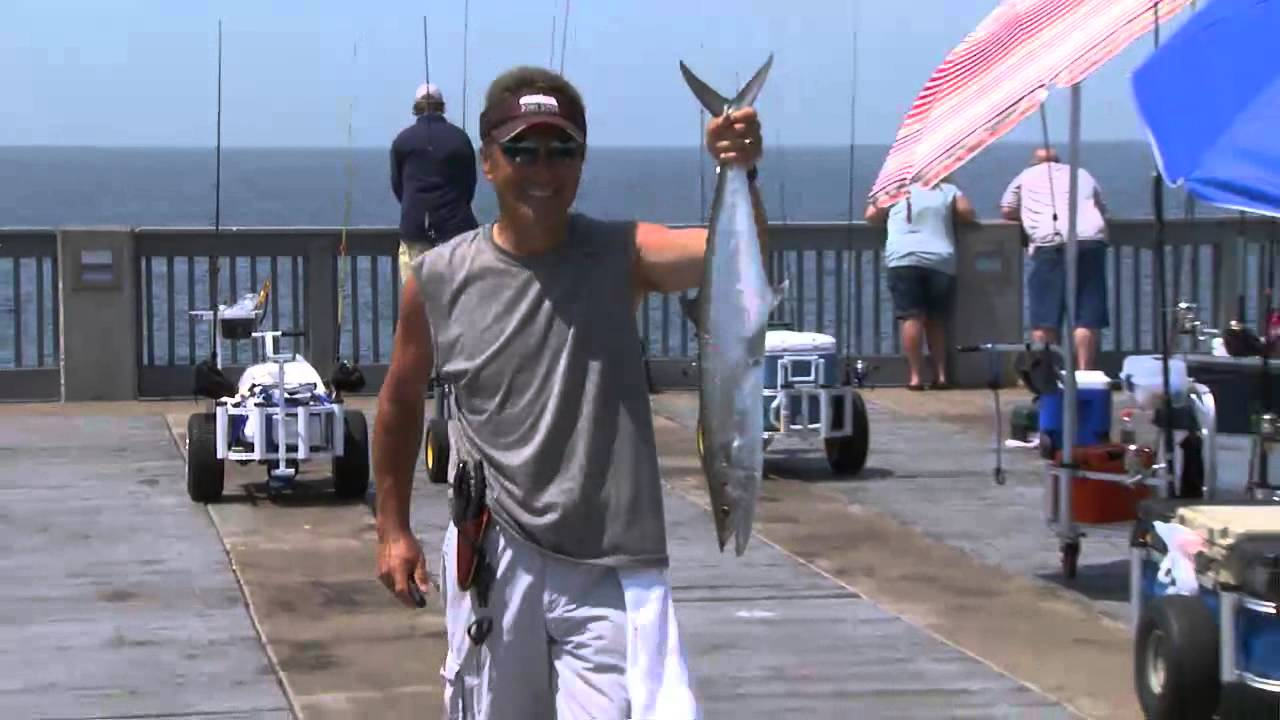 Pier fishing in panama city beach youtube for Panama city beach fishing