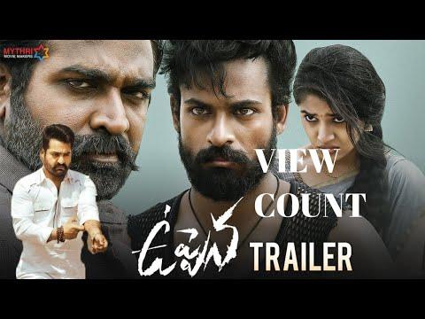 🔴 (LIVE VIEW COUNT ) Uppena Telugu Movie Trailer   Panja Vaisshnav Tej    Vijay Sethupathi  