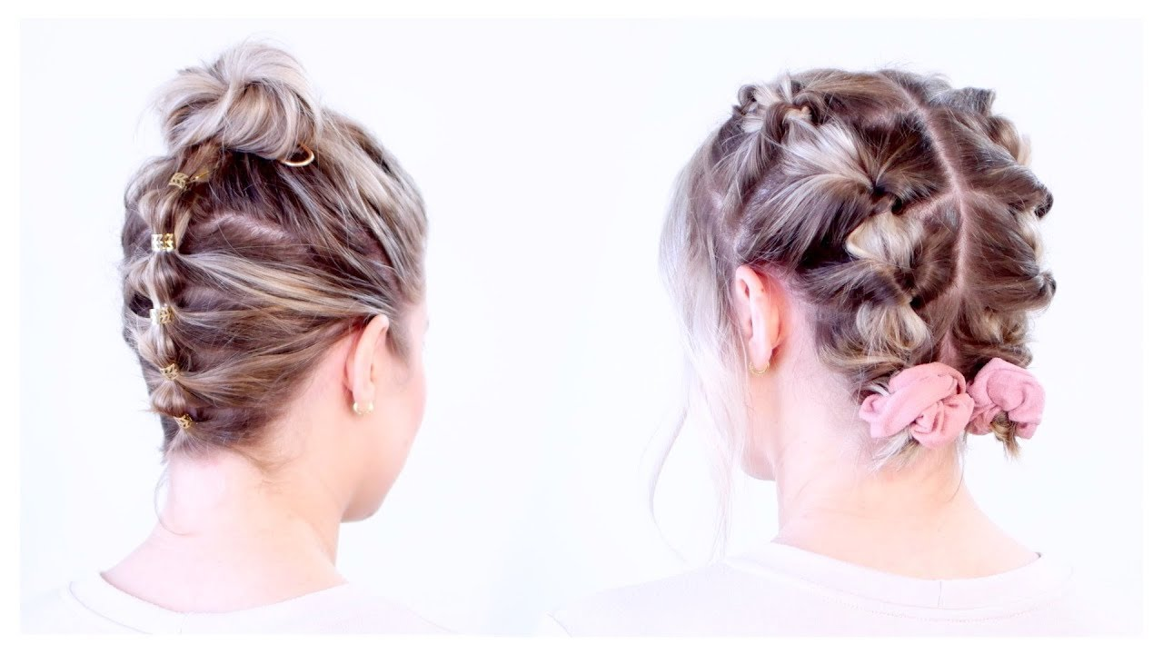 Super Cute Updos For Short Hair Milabu Youtube