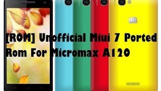 Redmi MIUI v7 Rom on Micromax Canvas 2 colors A120