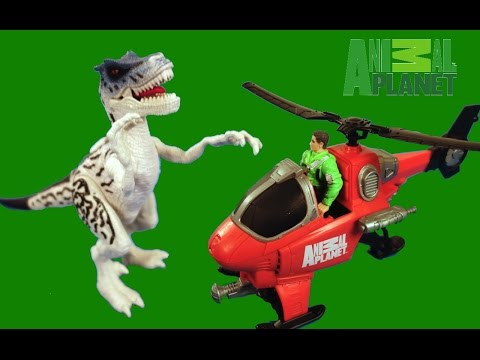 NEW!  Dino Expedition with the Velociraptor and Helicopter by Animal Planet