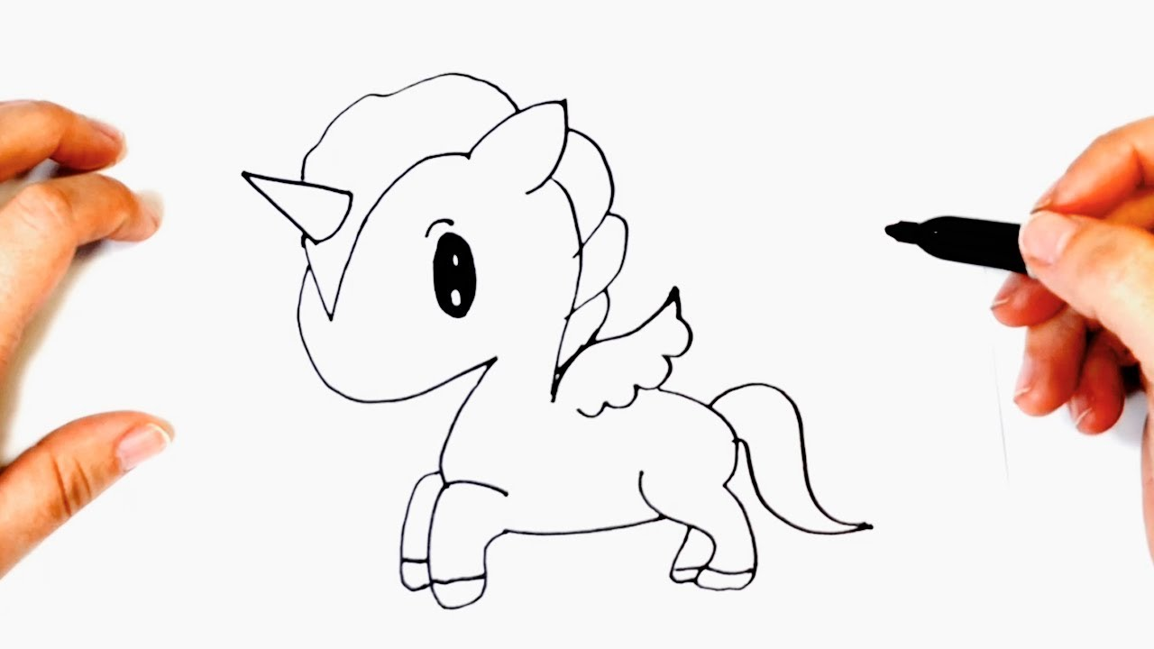 how to draw a kawaii unicorn step by step