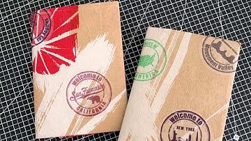 스타벅스 종이백으로 초간단 여권케이스 만들기 해해북스 화요일작업실 미니제본소