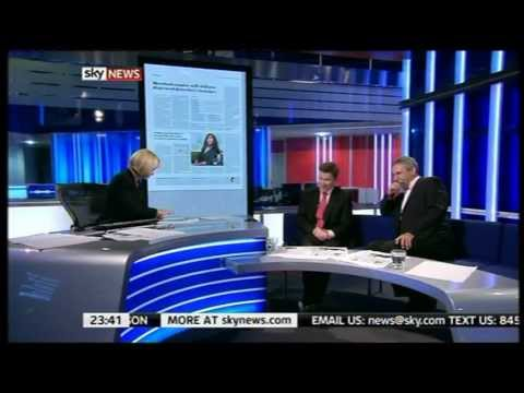Sky News presenters crack up Live on TV